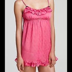 BETSEY JOHNSON Pink Ruffled Babydoll Nighty M